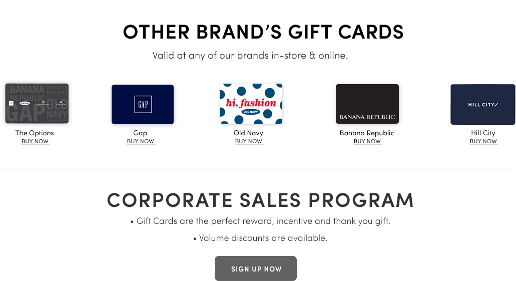 Other Brands Gift Cards