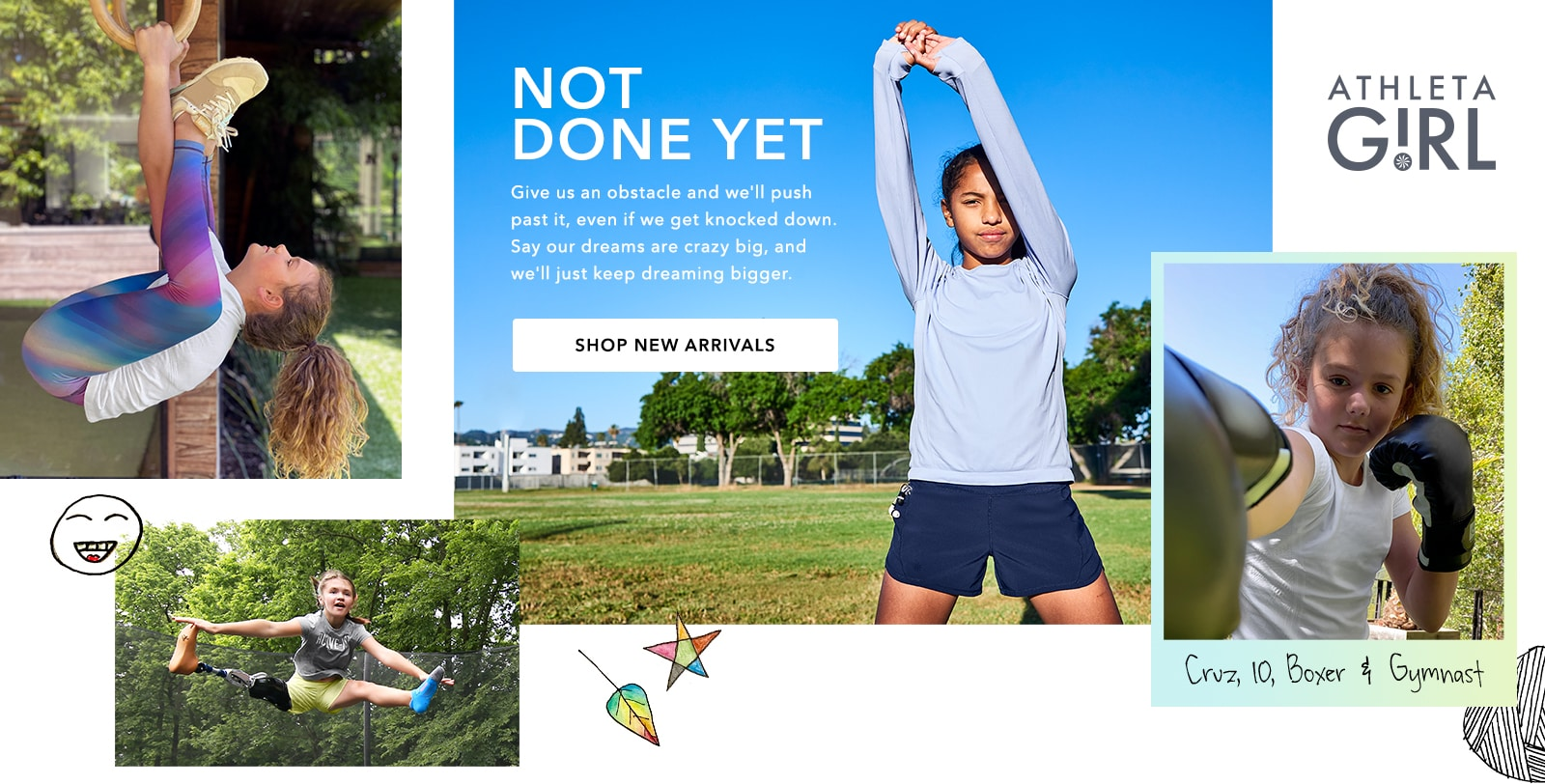 girl athletes in athleta wear