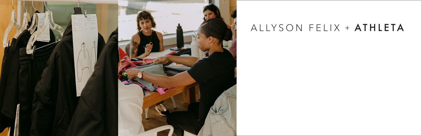allyson felix designing her line with athleta