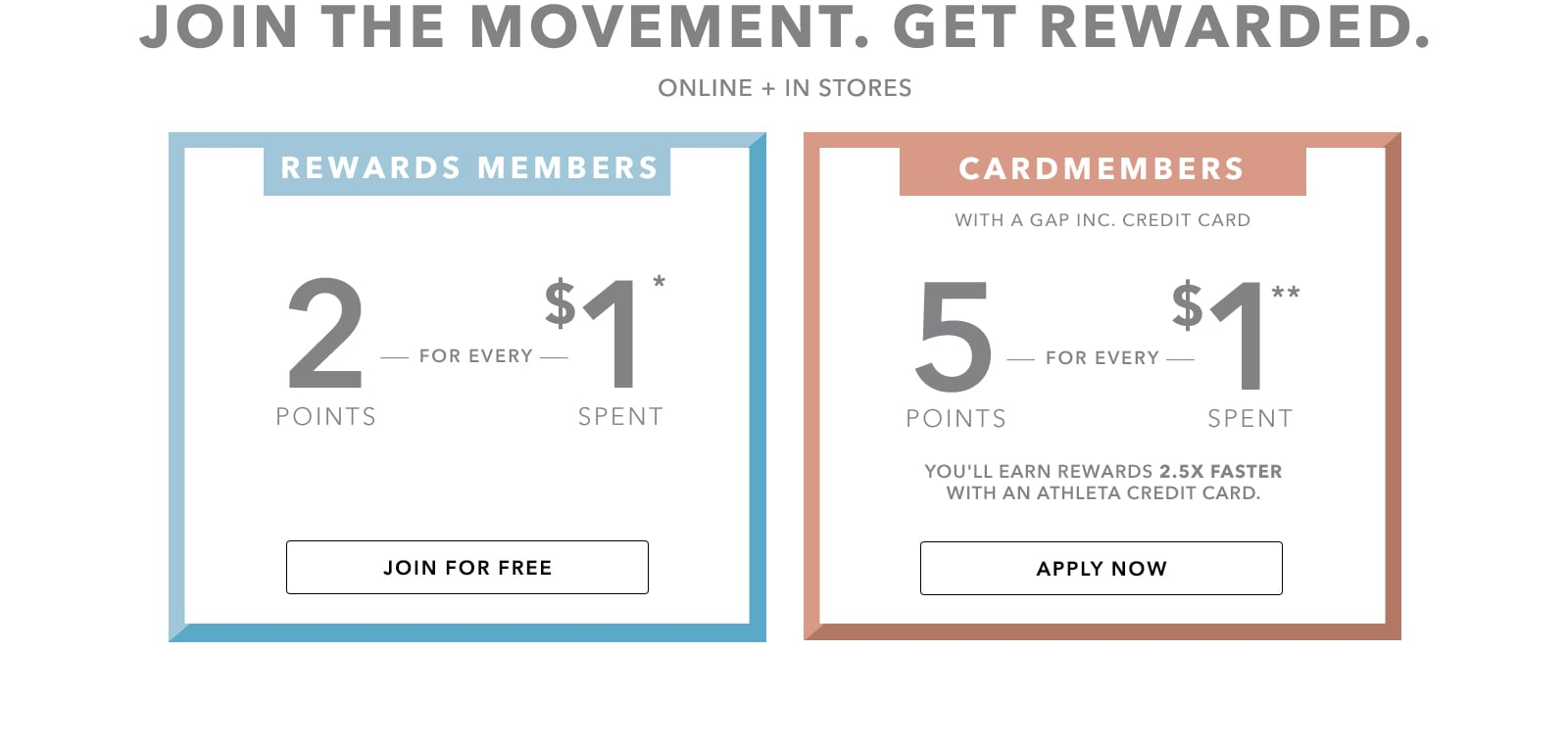 Join the movement. Get rewarded. Online and in stores.