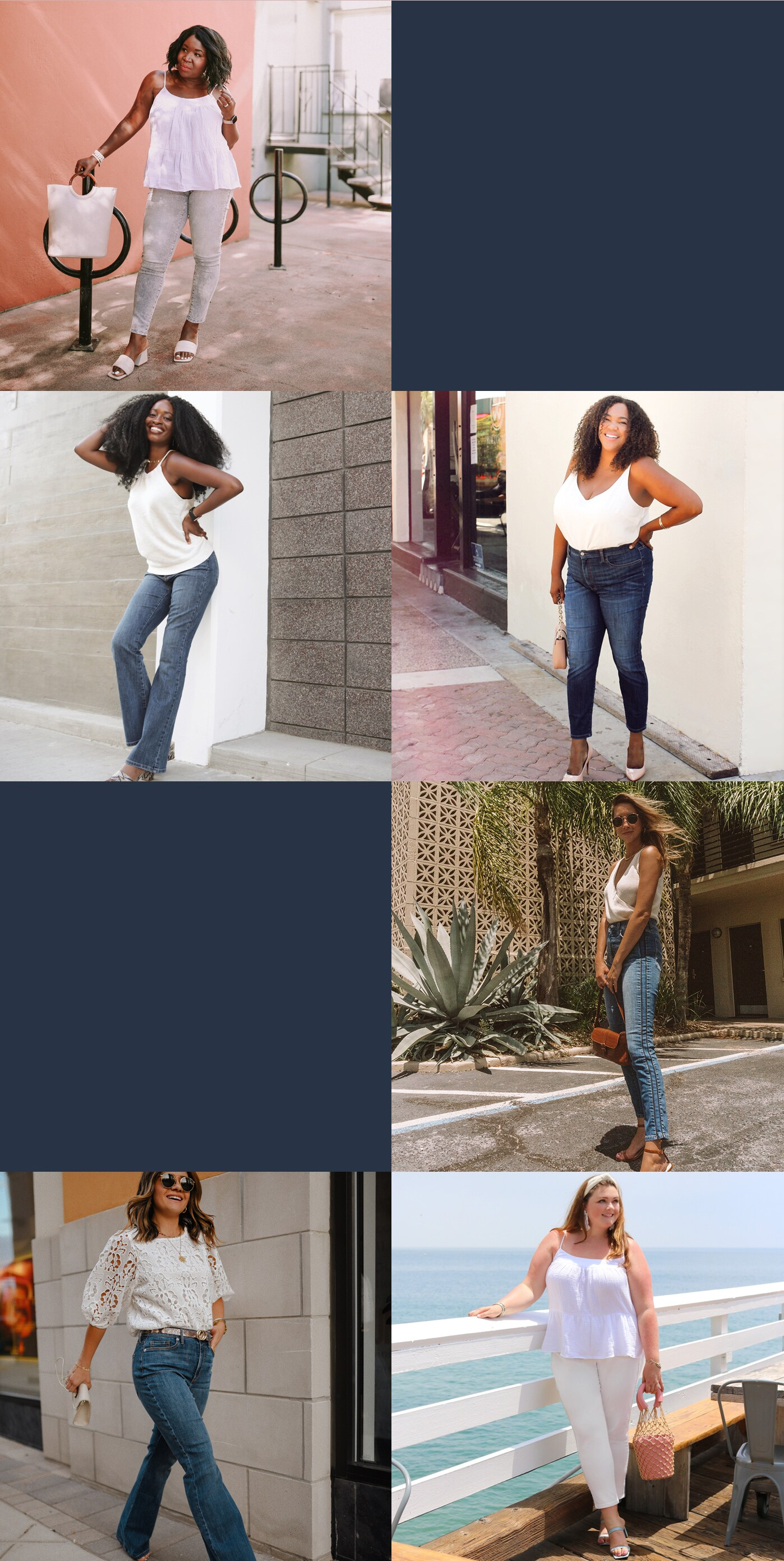 New Curvy Denim. Background Image