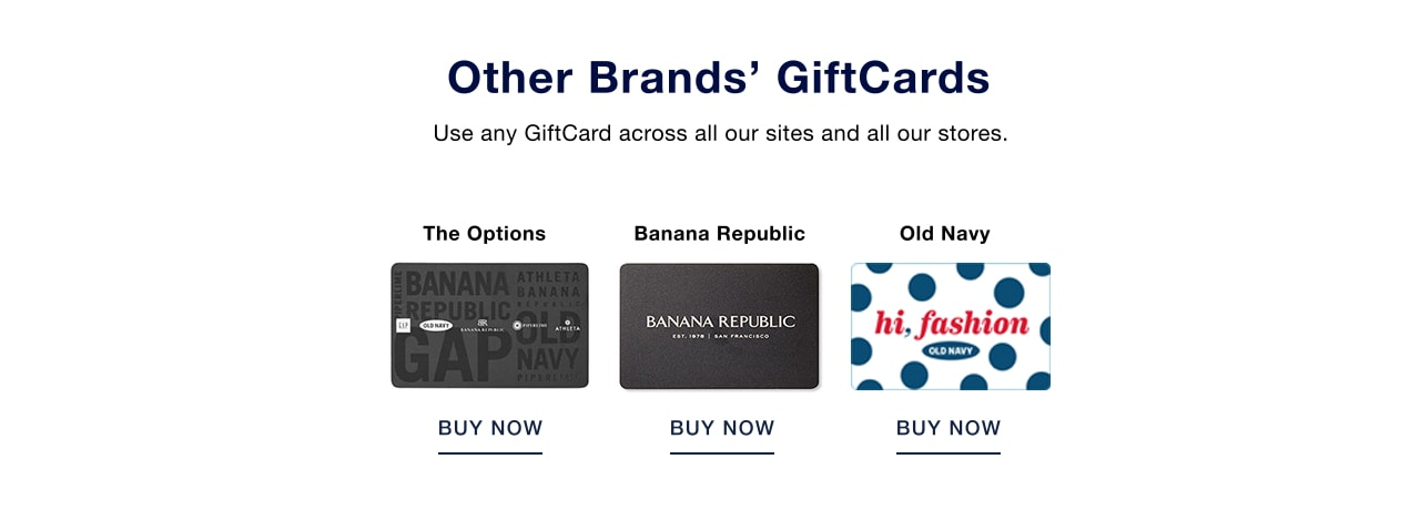 other brands' gift cards
