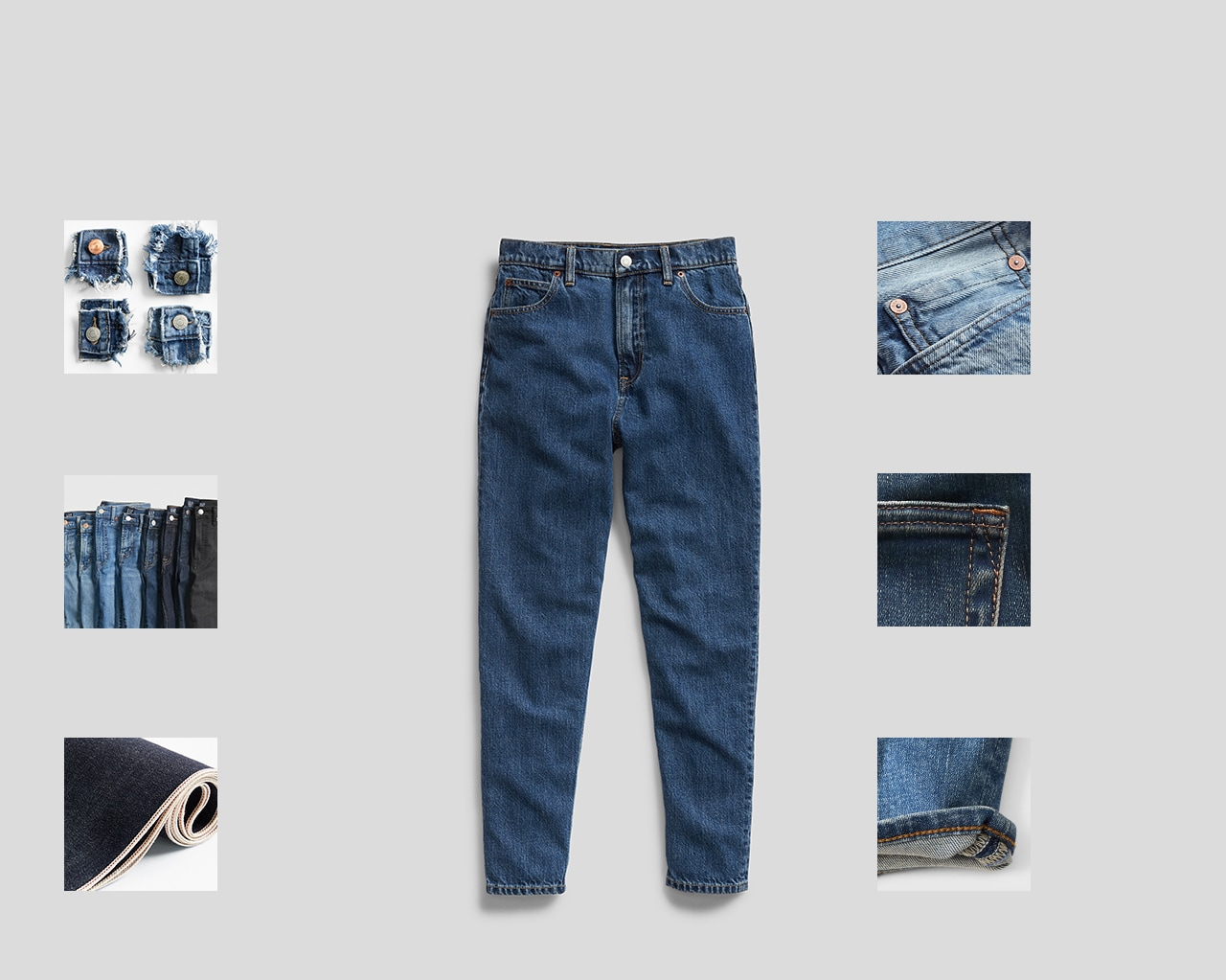 Anatomy of a Gap Jean. Designed to get better with every wear.