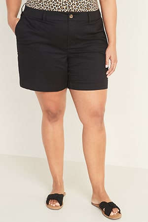 Womens plus shorts