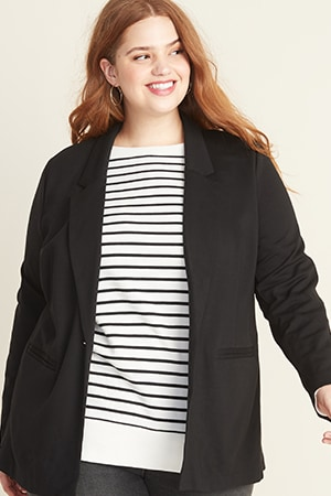 Womens plus outerwear