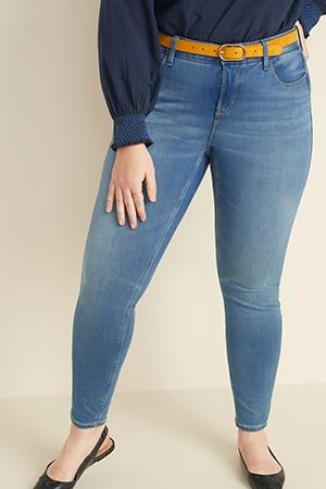 Womens plus jeans