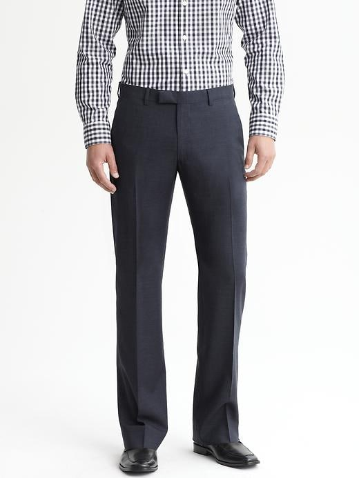 Tailored Slim-Fit Navy Italian Wool Suit Trouser