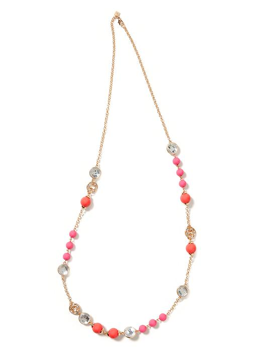 Crystal bauble necklace