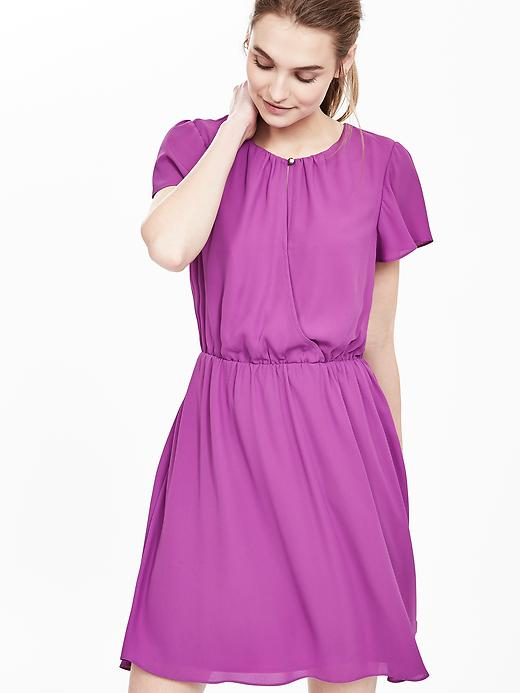 Banana Republic Womens Keyhole Sleeve Dress