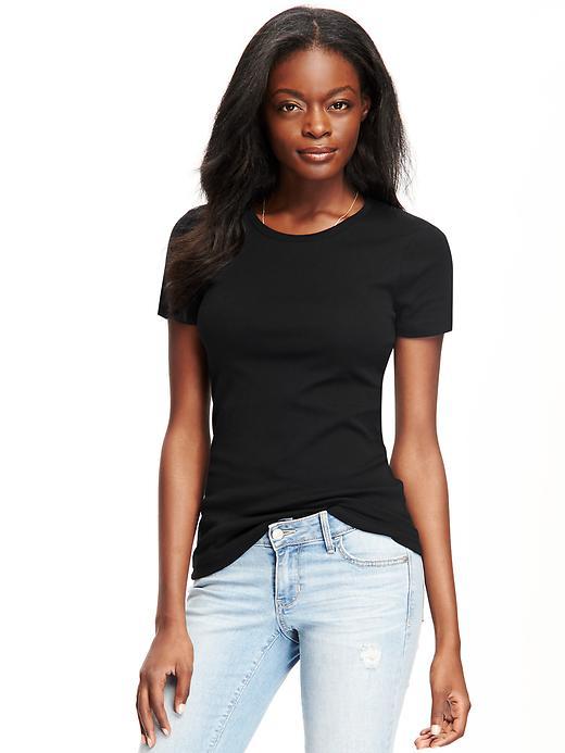 T-shirt ras du cou coupe parfaite pour femme