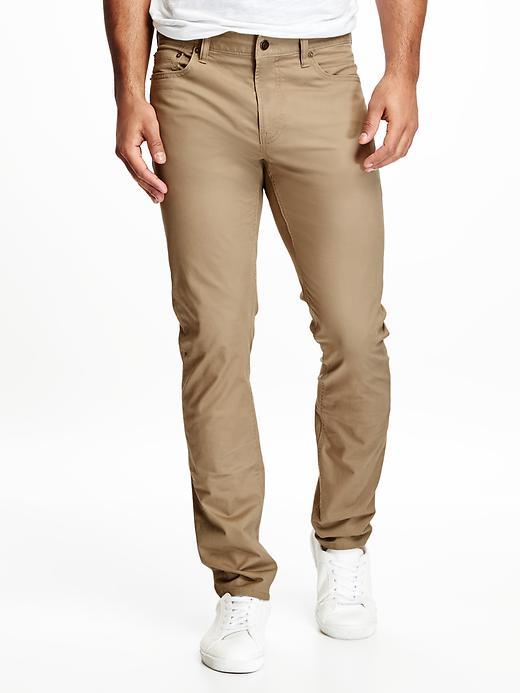 Old Navy Mens Skinny Twill Pants