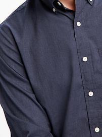 Slim-Fit Poplin Shirt For Men