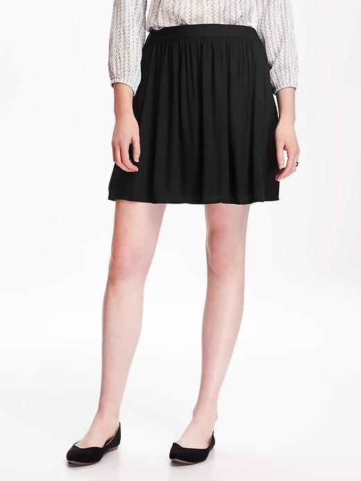 Fit & Flare Drapey Skirt for Women