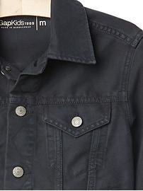 Veste en denim 1969 fini noirâtre (enfant)