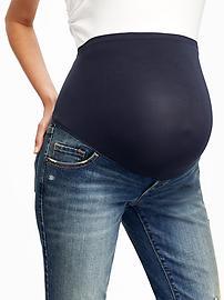 Jean de maternité moulant à panneau complet