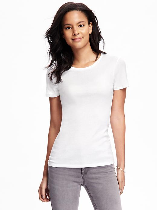 Fitted Crew-Neck Tee for Women