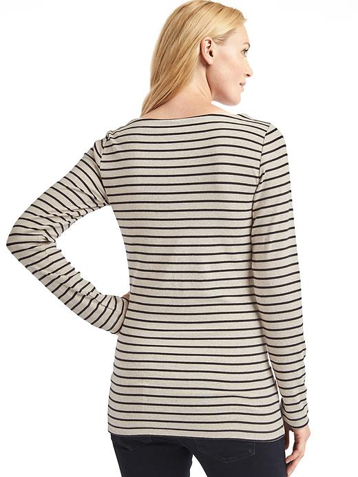 Maternity Modern Stripe Boatneck T-Shirt