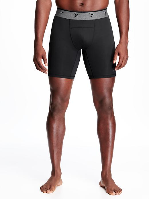 Go-Dry Built-In Flex Base-Layer Shorts for Men - 8-inch inseam