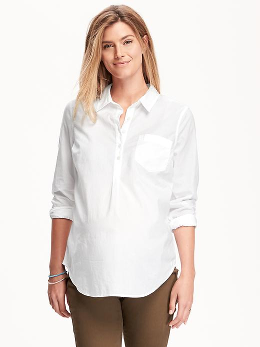 Maternity Classic Popover Shirt