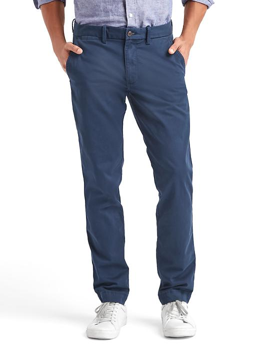 Everyday Khakis in Slim Fit with GapFlex