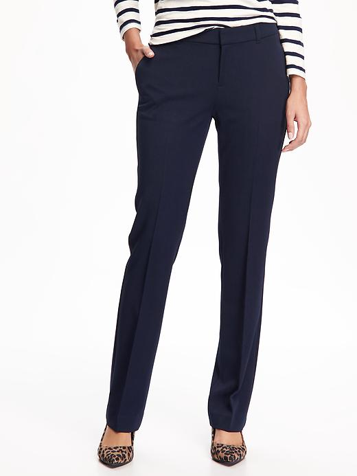 Mid-Rise Straight Pants for Women
