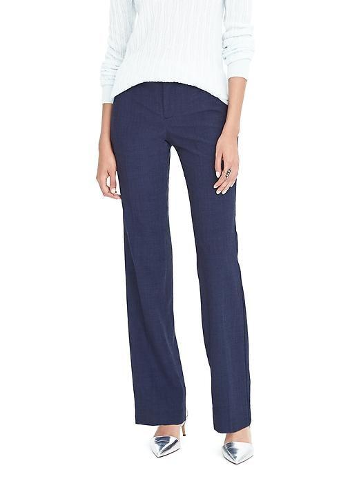 Petite Logan Trouser-Fit Lightweight Wool Pant