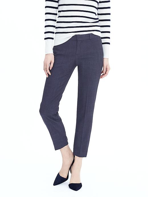 Pantalon trois quarts plissé coupe Avery