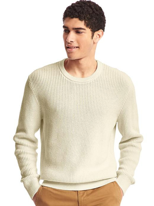Crewneck Men's Shaker Sweater
