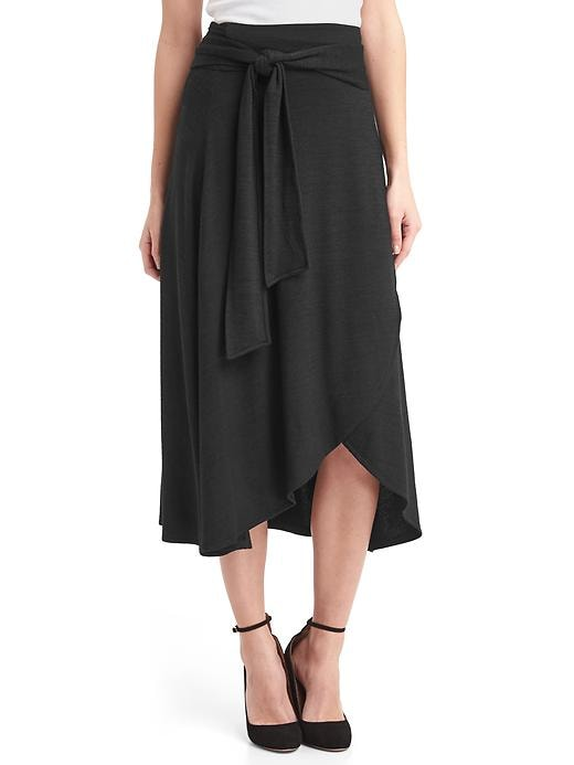 Gap Women's Softspun Knit Midi Wrap Skirt