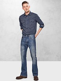 Jeans coupe semi-évasée