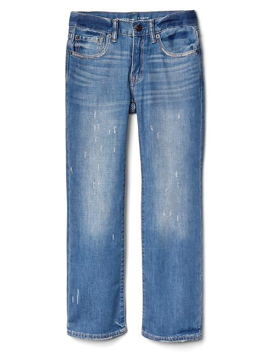 Kids Destructed Boot Jeans with Fantastiflex
