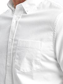 Clean-Slate Built-In Flex Everyday Oxford Short-Sleeve Shirt for Men