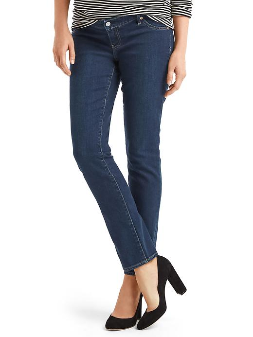 Maternity inset panel real straight jeans