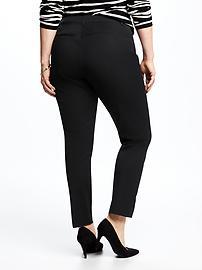 Mid-Rise Secret-Slim Pockets Plus-Size Pixie Ankle Pants