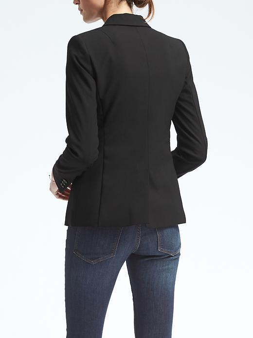 Petite Long and Lean-Fit Lightweight Wool Blazer