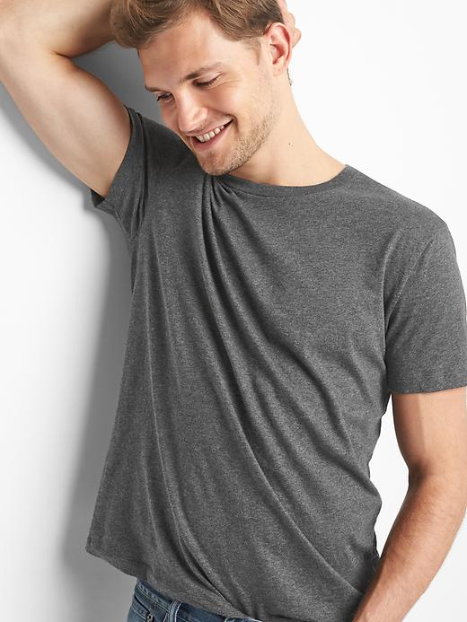 Gap Men's Essential Crewneck T-Shirt (Dark Charcoal)