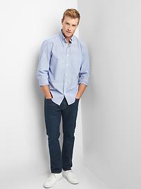 True wash poplin pinstripe standard fit shirt