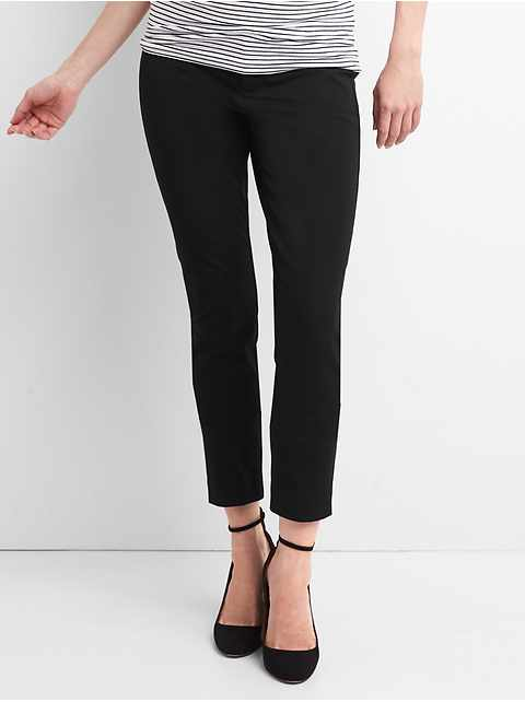 618b33adef794 Maternity Inset Panel Skinny Ankle Pants in Bi-Stretch