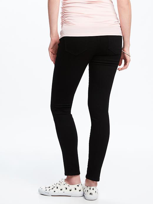 Maternity Never-Fade Premium Full-Panel Rockstar Jeans