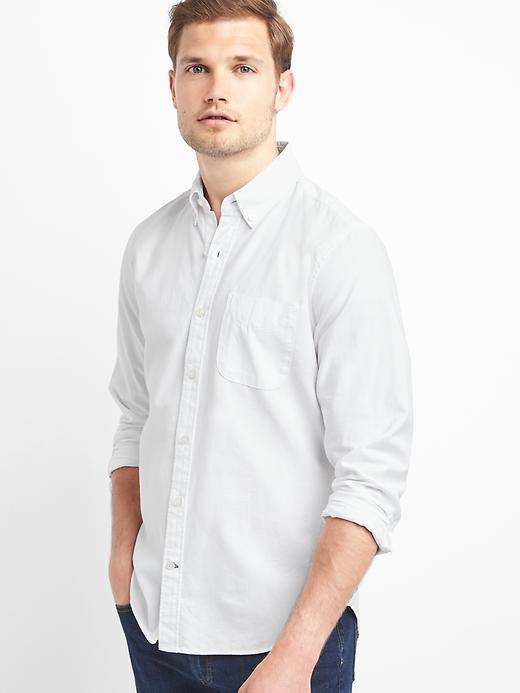 Oxford solid slim fit shirt