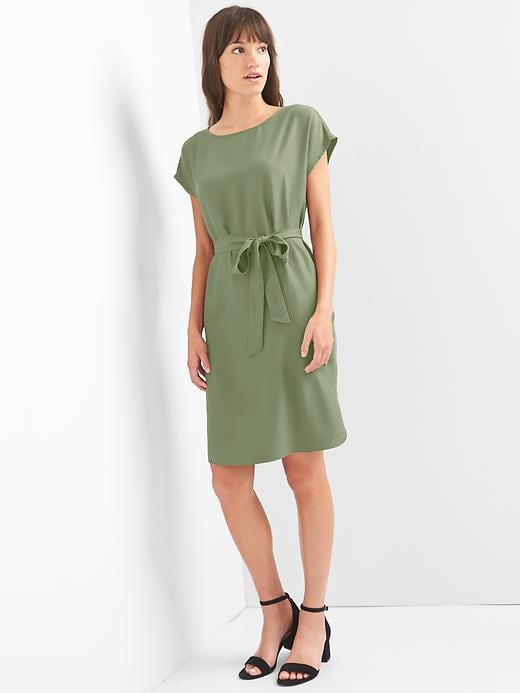 Gap Womens Tie-Belt Shift Dress