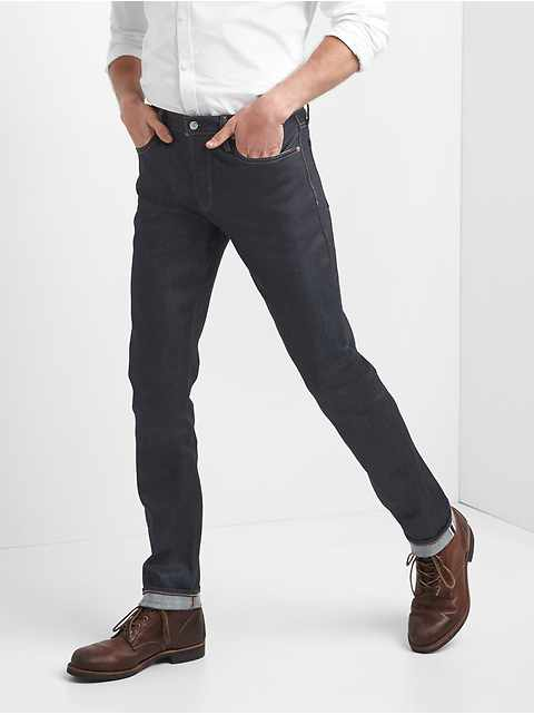 Selvedge Skinny Jeans with GapFlex d7fbf98fd19