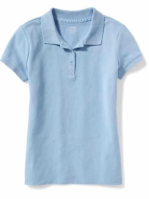 2f4a14961 Uniform Pique Polo for Girls