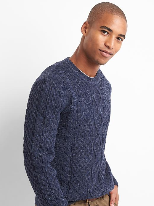 Gap Mens Cable-Knit Crewneck Sweater