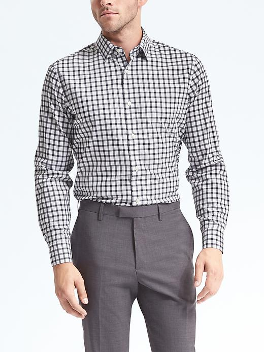Banana Republic Camden Standard-Fit Non-Iron Windowpane Shirt