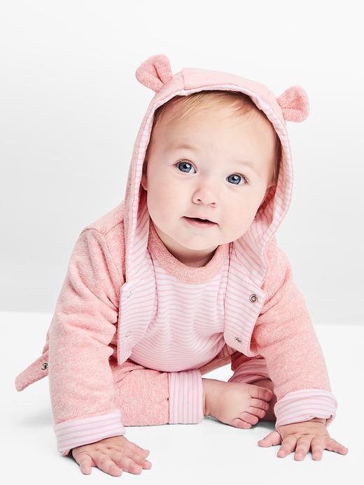 Baby Favorite Reversible Bear Hoodie Sweatshirt