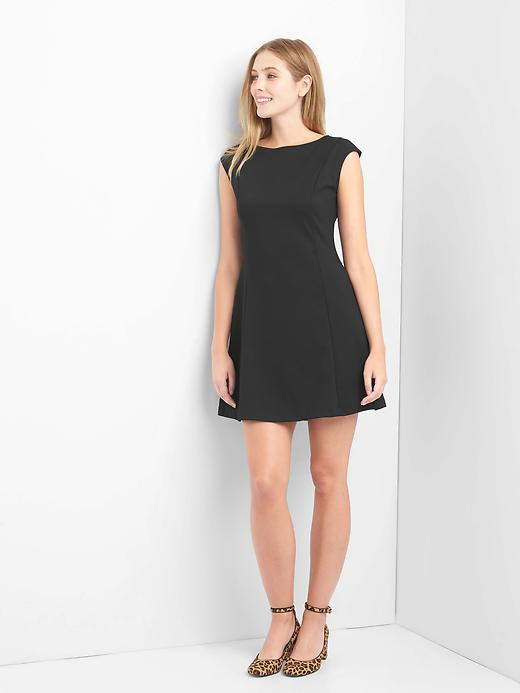 Gap Womens Cap Sleeve Fit and Flare Dress