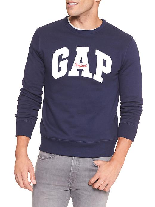 Embroidered Gap Logo Crewneck Pullover
