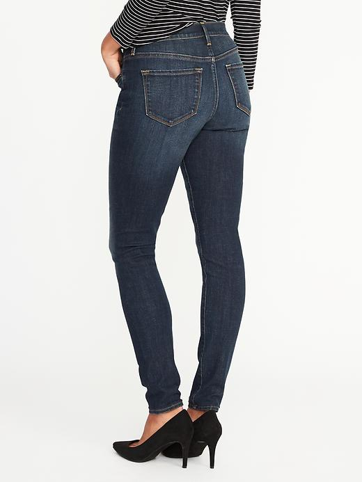 Mid-Rise Curvy Skinny Jeans for Women