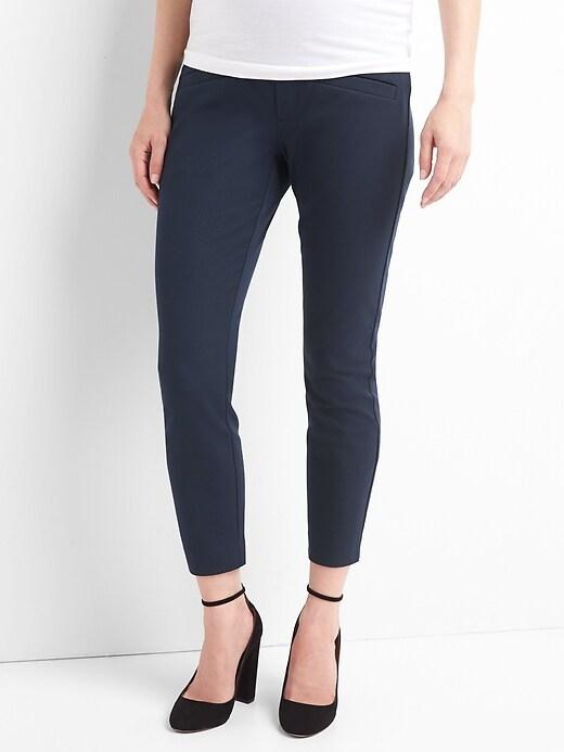 Maternity Full Panel Skinny Pants with Bi-Stretch